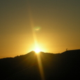 弘法山山頂から朝陽